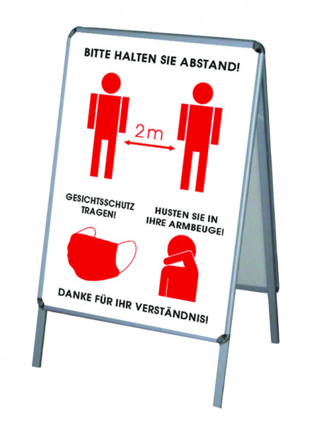 Aktion Corona-Hinweise Vers.2 - PVC-Poster A1 für Kundenstopper