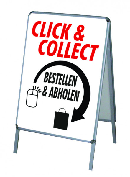 Aktion Corona-Hinweise Click & Collect Vers.3 - PVC-Poster A1 für Kundenstopper