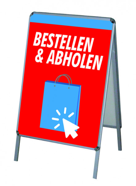 Aktion Corona-Hinweise Click & Collect Vers. 2 - PVC-Poster A1 für Kundenstopper-